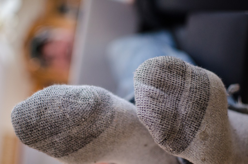 Śmierdzące stopy skarpety