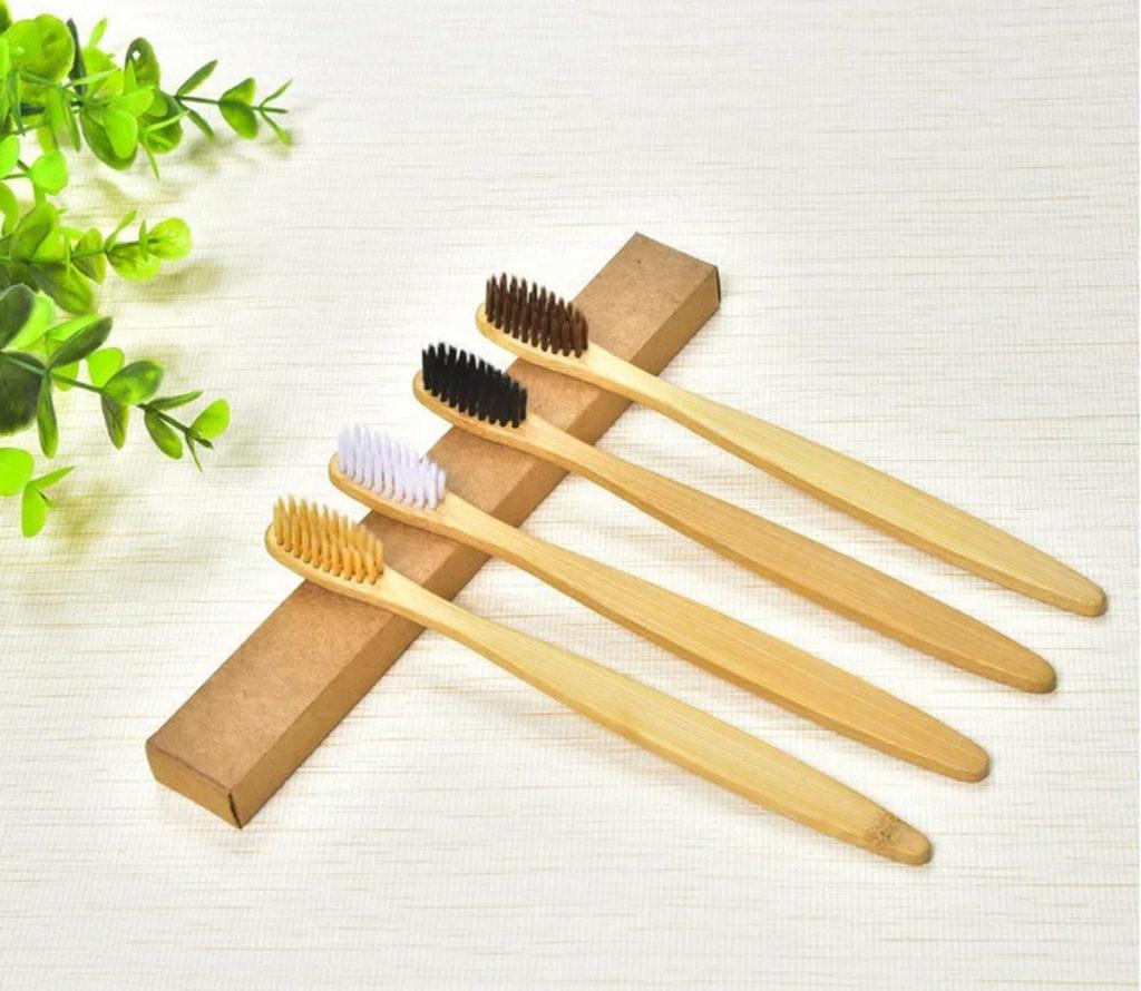 Bambusowa szczoteczka do zebow higiena