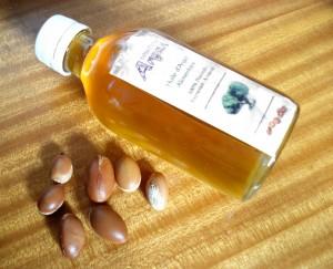 Butelka z olejem arganowym