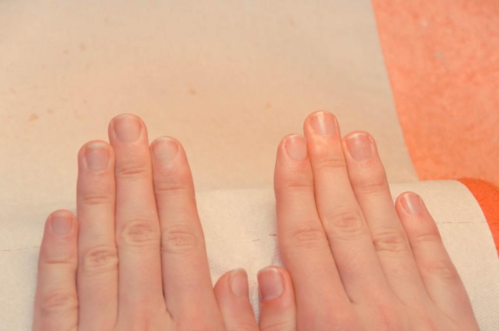 Manicure japoński efekty przed i po